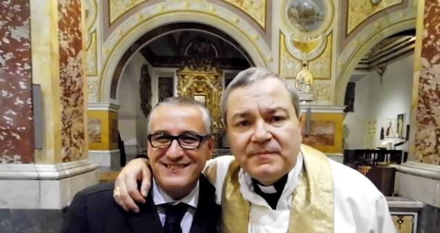 Il Giornalista Antonio Le Fosse con il Vescovo Santo Marcianò